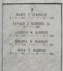 Anna Mae <I>Zeringue</I> Barrios