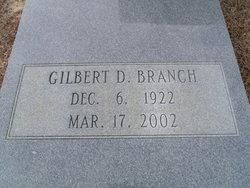 Gilbert D Branch