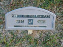 Mary Lou <I>Poston</I> Ard