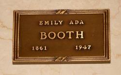 Emily Ada <I>Hill</I> Booth