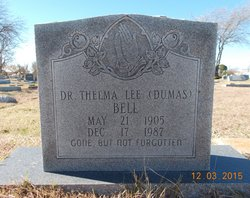 Dr Thelma Lee <I>Dumas</I> Bell