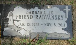 Barbara Jo <I>Friend</I> Radvansky