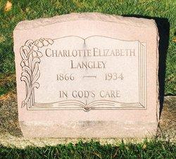"""Charlotte Elizabeth """"Lotty"""" <I>Acker</I> Langley"""