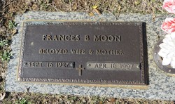 Frances <I>Bowman</I> Moon