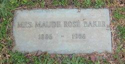 Maude Elizabeth <I>Rose</I> Baker