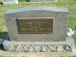 Sgt Jack T. Bowen