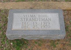 Velma <I>Bohl</I> Strandtman