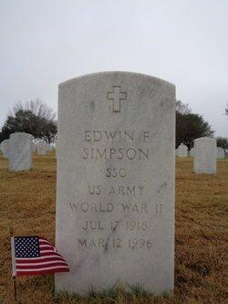 Sgt Edwin F Simpson