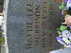 Hattie Lee <I>Hill</I> Morrison