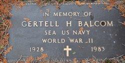 """Gertell Harold """"Stub"""" Balcom"""