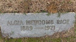 Algia Lee <I>Newcomb</I> Rice