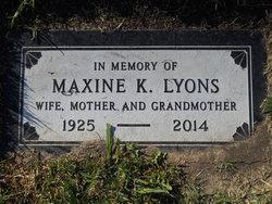 Maxine K Lyons