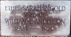 Sarah Ethel <I>Ingold</I> Anderson