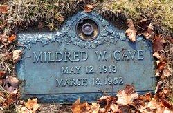 Mildred Winifred <I>Alexander</I> Cave