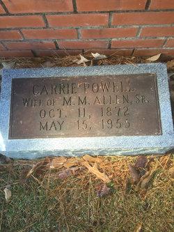 Carrie Rayford <I>Powell</I> Allen