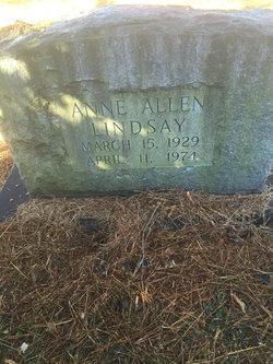 Ann <I>Allen</I> Lindsay
