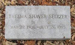 Thelma <I>Shaver</I> Seltzer
