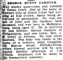 George Burns Gardner