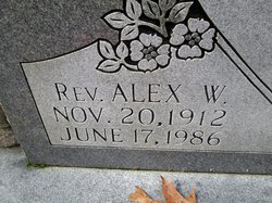 Rev Alex W. Adams