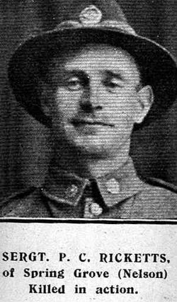 Corporal Percy Cyril Ricketts
