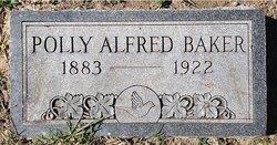 Polly Elizabeth <I>Alfred</I> Baker