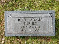 Ruth Adline <I>Adams</I> Turner