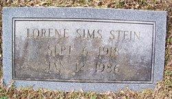 Lorene <I>Sims</I> Stein