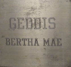 Bertha Mae Geddis
