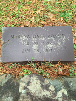 Martha Jo <I>Hays</I> Adams