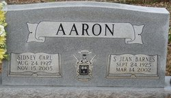 SSGT Sidney Carl Aaron