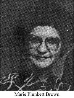 Lola Marie <I>Plunkett</I> Brown