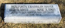 Benjamin Franklin Hafer