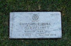PFC Clifton E Duke