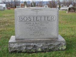 Anna A. <I>Johnston</I> Bostetter