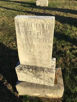 Sarah <I>Martin</I> Baker