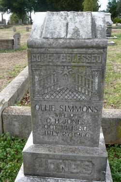 Ollie <I>Simmons</I> Jones