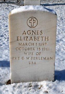 Agnes Elizabeth <I>Olsen</I> Ferleman