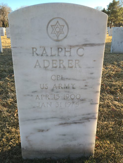 Ralph C Aderer