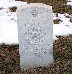 Pvt Frank F Albers