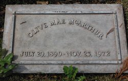 Olive May <I>Root</I> McArthur