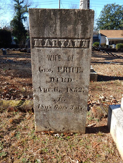 Mary Ann <I>Palmer</I> Price