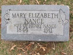 Mary Elizabeth <I>Acuff</I> Nance