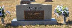 """Billy Joe """"Bill"""" Warren"""