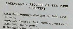 Capt Humphrey Alden