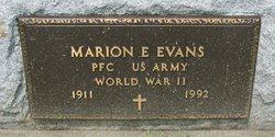 Marion E Evans