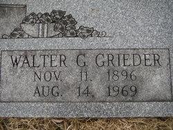 Walter Gustavus Grieder