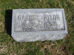 "Caroline ""Carrie"" <I>Hutton</I> Ayers"