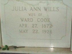 Julia Ann <I>Wills</I> Cook