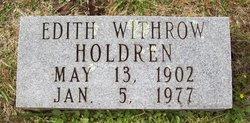 Edith <I>Withrow</I> Holdren