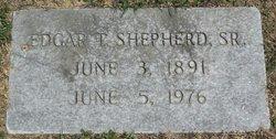 Edgar T Shepherd, Sr